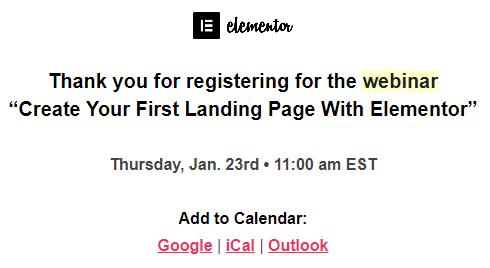 Add to Calendar example