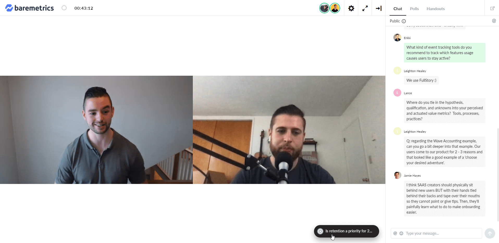 Example webinar with a guest