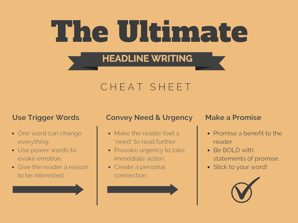 The Ultimate Headline Writing Cheat Sheet