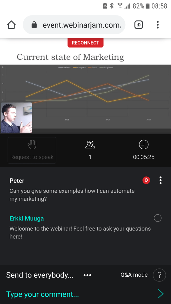 WebinarJam Android attendee Q&A