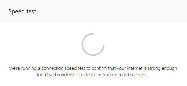 WJ request to speak - speed test