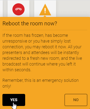 WJ panic button - reboot room