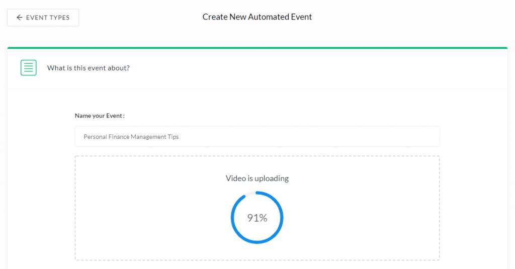 Automated Webinar uploading