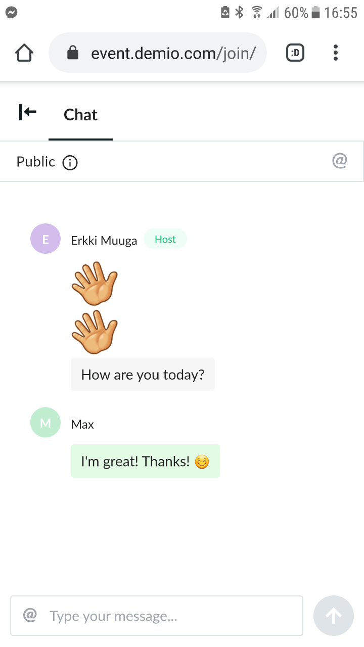 Android attendee: Chat & Q&A