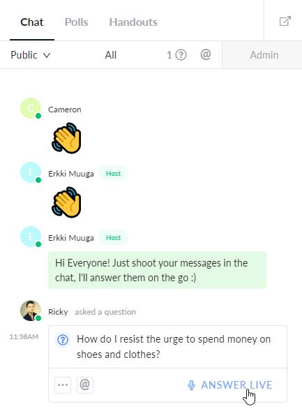 demio start answering