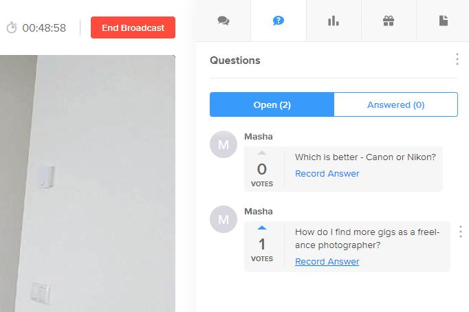 Q&A record answer