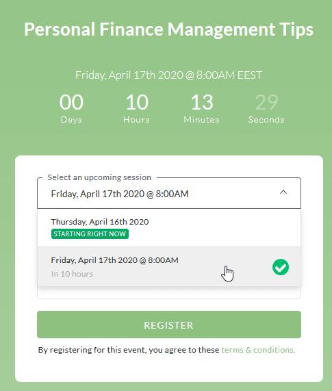 Registration option - on-demand webinar