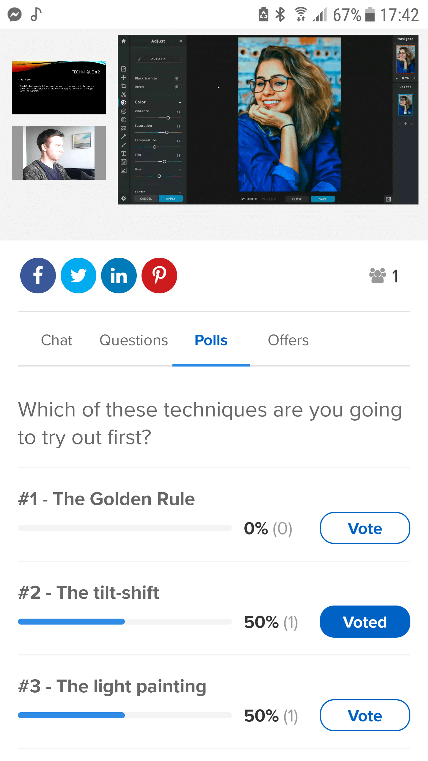 WebinarNinja Android polls