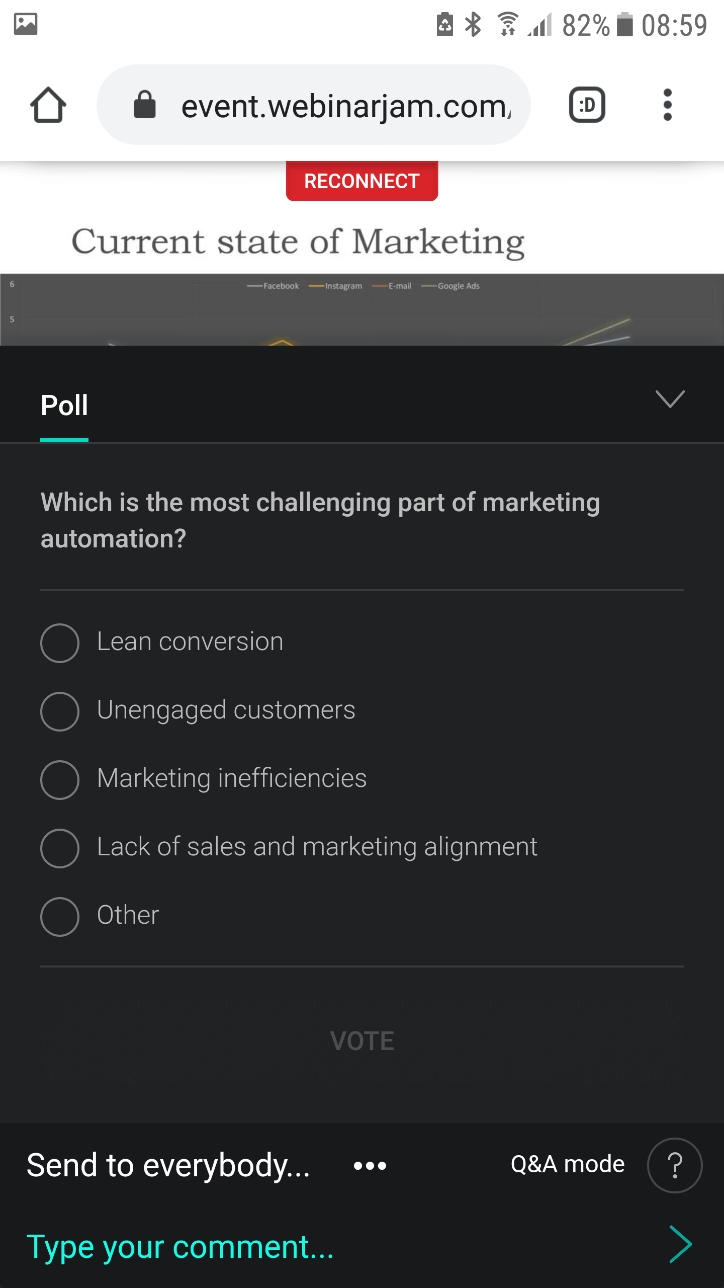 WebinarJam Android polls