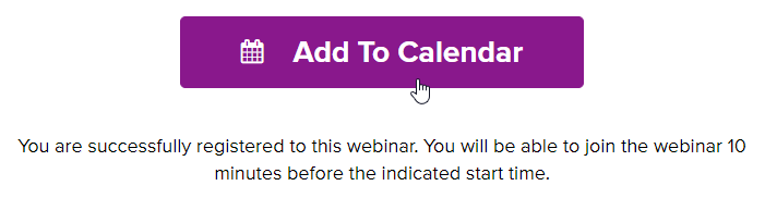 "Thank You Page ""Add to Calendar"" button"