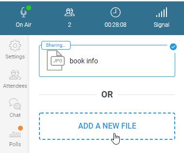 WebinarJam: Sharing a file handout