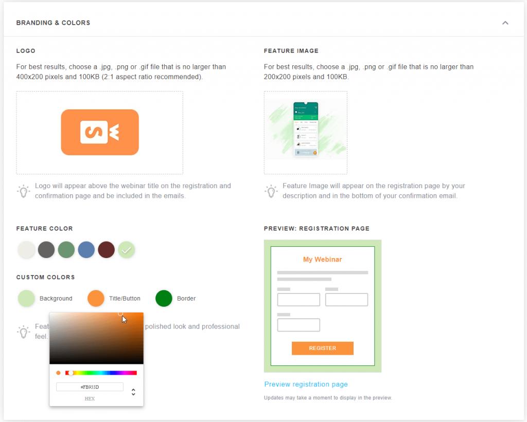 GoToWebinar Registration Page Customization