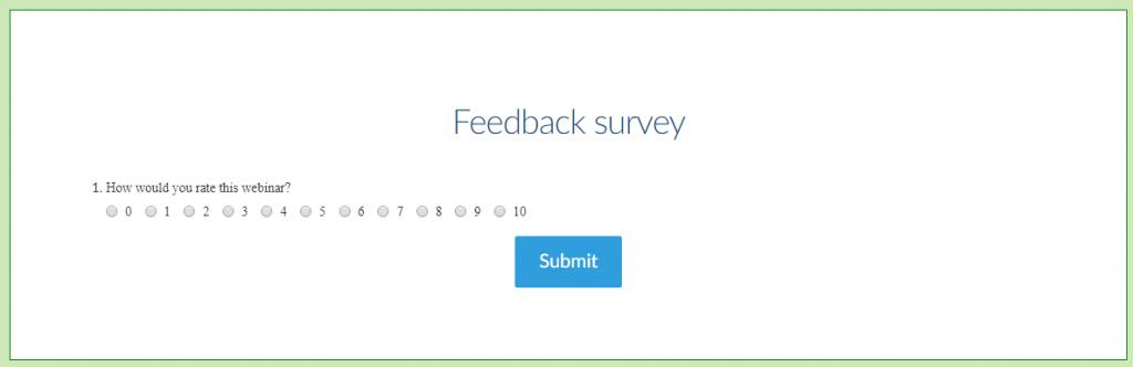 post-webinar feedback survey