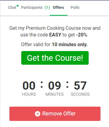 offers in EasyWebinar