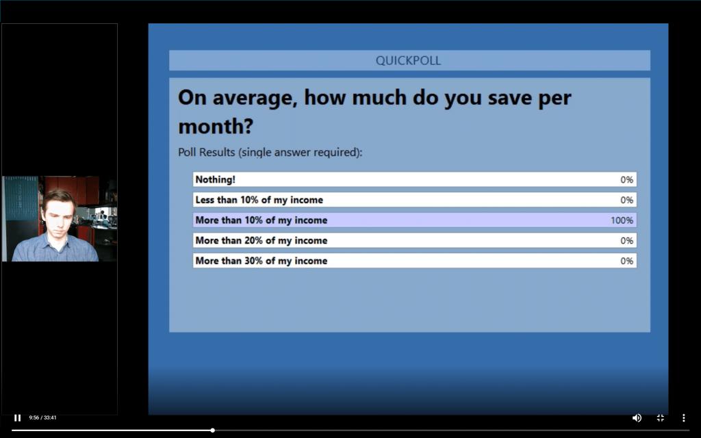 Polls on the webinar replay