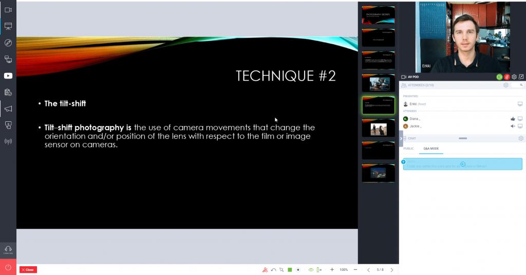 GetResponse live webinar slideshow example