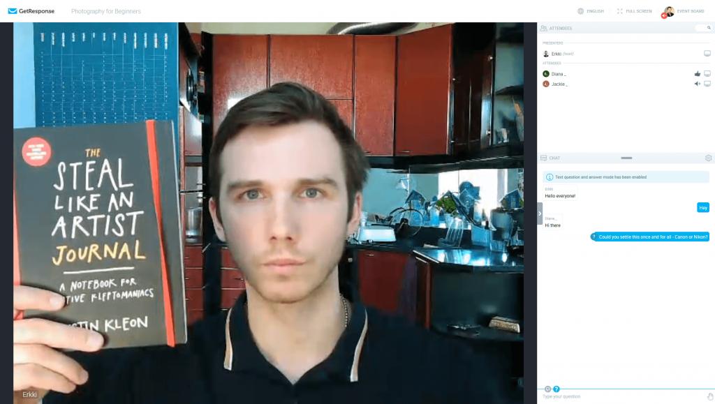 GetResponse webinar video quality