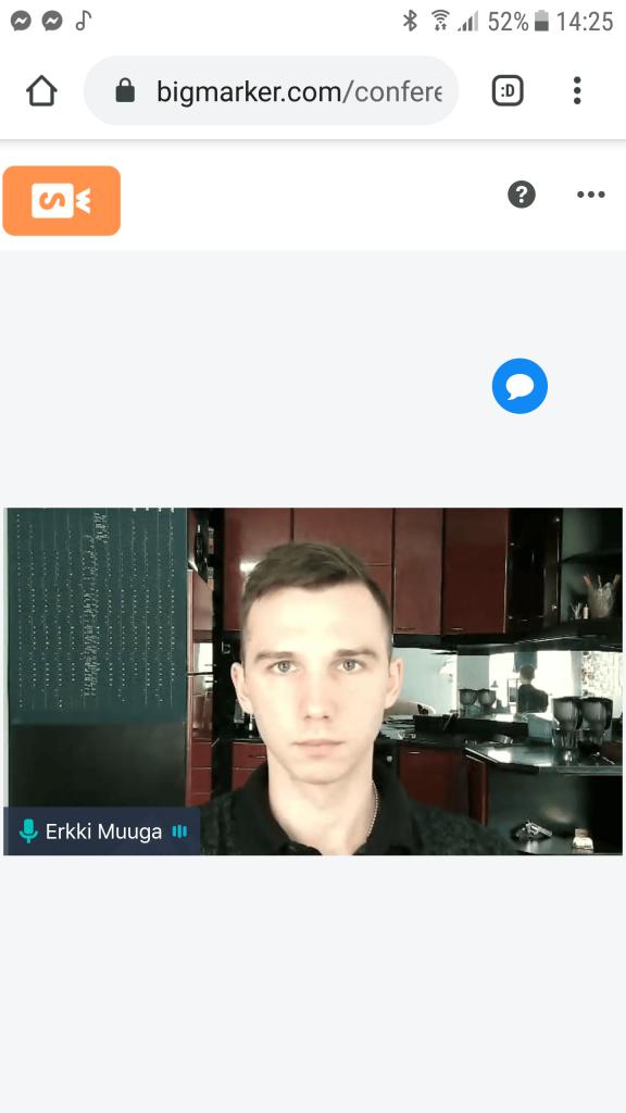 BigMarker Android - webcam