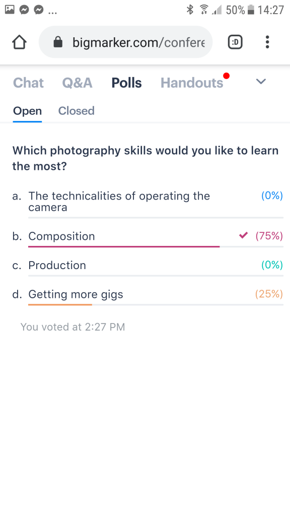 BigMarker Android - Polls