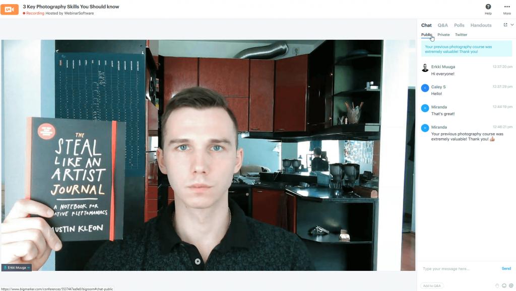 BigMarker webcam video quality