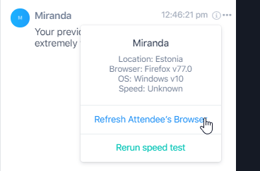 Option to refresh attendee browser