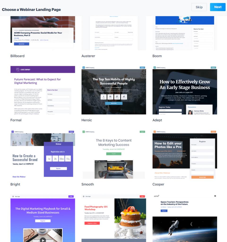 BigMarker landing pages