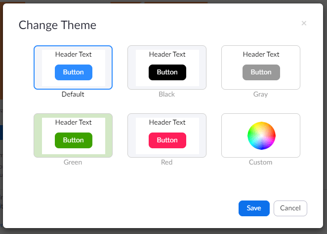 Zoom color themes