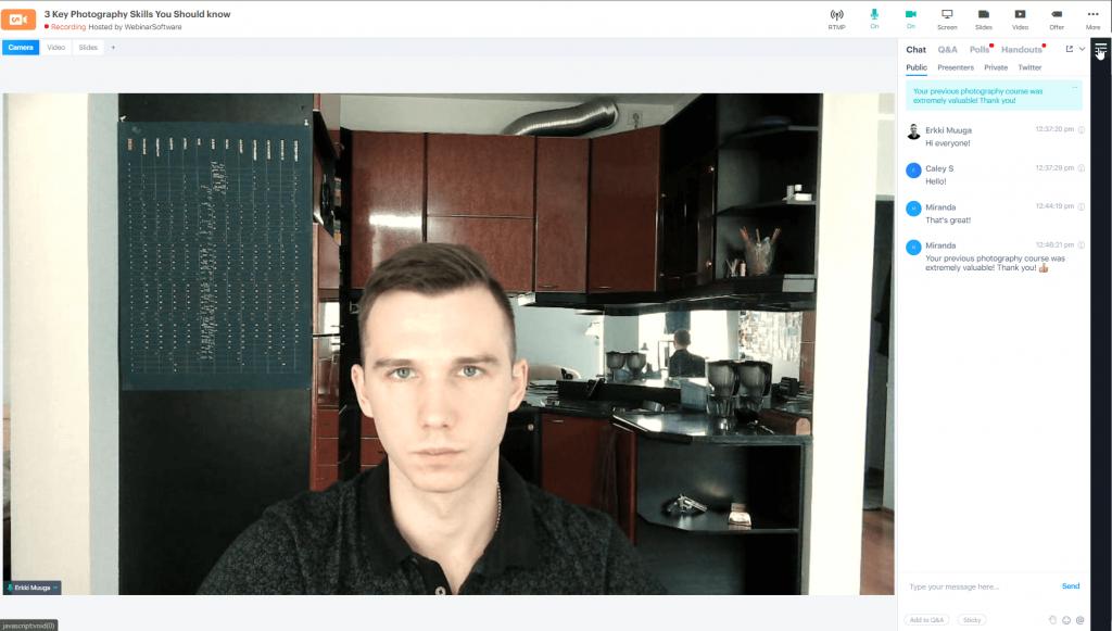 BigMarker video filter example