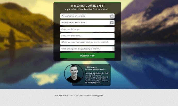 EasyWebinar Registration Page