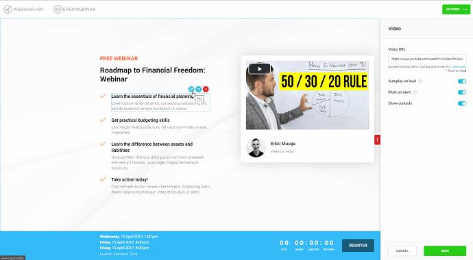 EverWebinar Registration Page