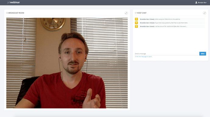 JetWebinar live webinar room