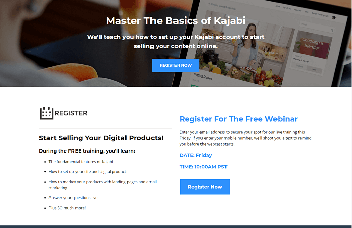 Kajabi Registration Page