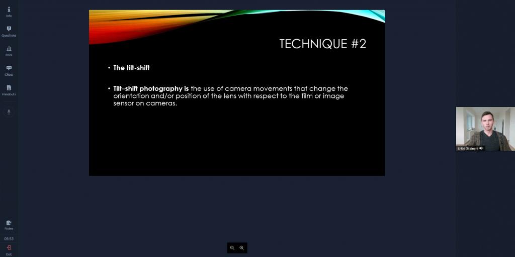 Zoho live webinar room