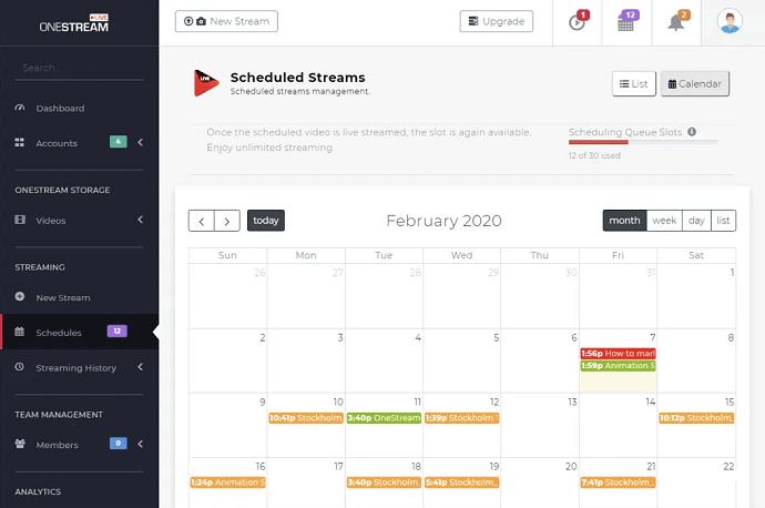 OneStream Schedule View