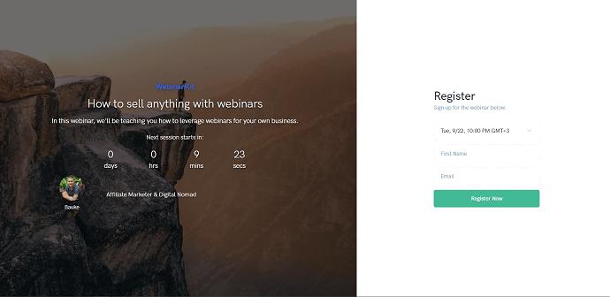 WebinarKit Registration Page