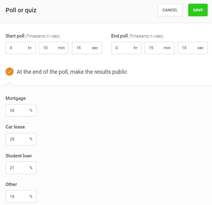 EverWebinar polls setup