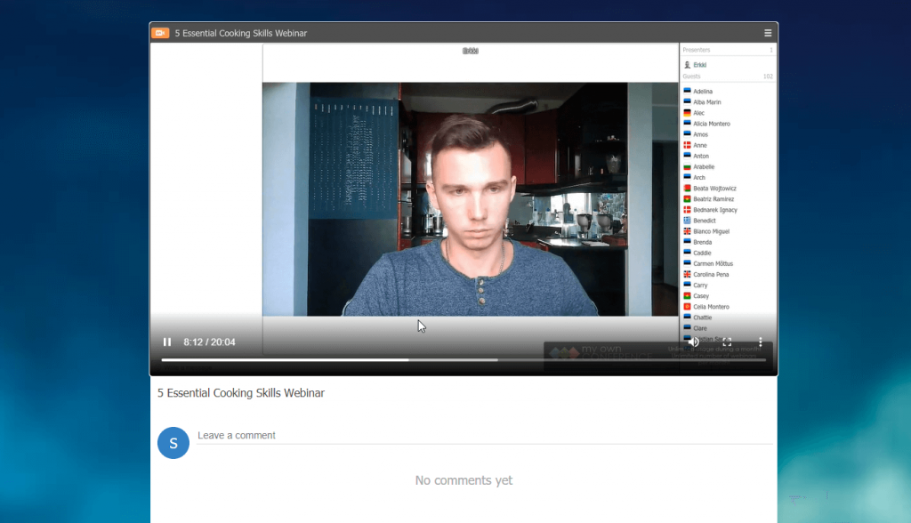 MyOwnConference webinar replay