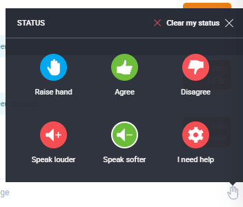 Attendee can choose their status