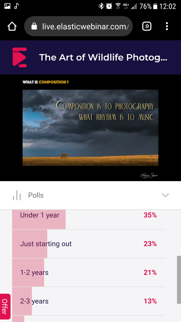ElasticWebinar on Android - Polls (attendee view)