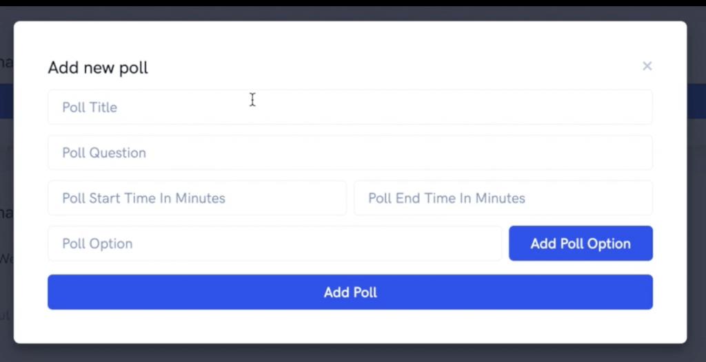 Configuring a poll