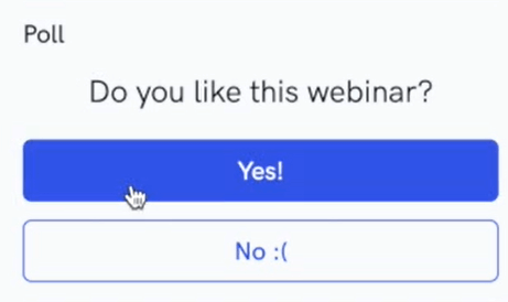WebinarKit poll
